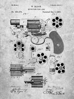 Revolving Fire Arm Patent - Slate Fine Art Print