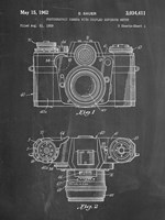 Photographic Camera With Coupled Exposure Meter Patent - Chalkboard Fine Art Print