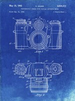 Photographic Camera With Coupled Exposure Meter Patent - Faded Blueprint Fine Art Print