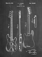 Guitar Patent - Chalkboard Fine Art Print