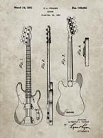 Guitar Patent - Sandstone Fine Art Print