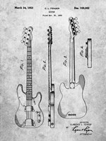 Guitar Patent - Slate Fine Art Print