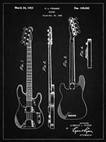 Guitar Patent - Vintage Black Fine Art Print