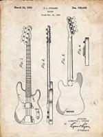 Guitar Patent - Vintage Parchment Fine Art Print