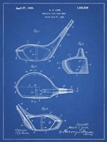 Metallic Golf Club Head Patent - Blueprint Fine Art Print