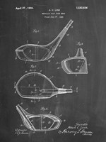 Metallic Golf Club Head Patent - Chalkboard Fine Art Print