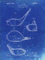 Metallic Golf Club Head Patent - Faded Blueprint Fine Art Print