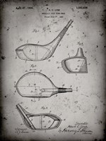 Metallic Golf Club Head Patent - Faded Grey Fine Art Print