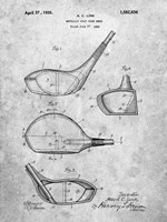 Metallic Golf Club Head Patent - Slate Fine Art Print
