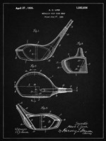 Metallic Golf Club Head Patent - Vintage Black Fine Art Print