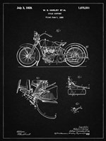 Cycle Support Patent - Vintage Black Fine Art Print
