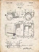 Military Vehicle Body Patent - Vintage Parchment Fine Art Print