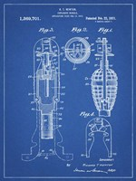 Explosive Missile Patent - Blueprint Fine Art Print