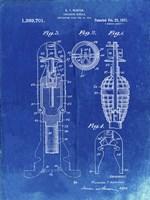 Explosive Missile Patent - Faded Blueprint Fine Art Print