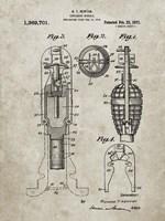 Explosive Missile Patent - Sandstone Fine Art Print