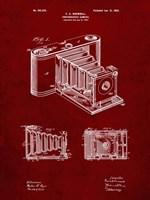 Photographic Camera Patent - Burgundy Fine Art Print