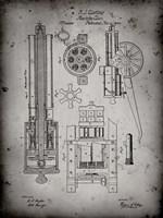 Machine Gun Patent - Faded Grey Fine Art Print