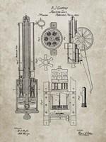 Machine Gun Patent - Sandstone Fine Art Print