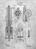 Machine Gun Patent - Slate Fine Art Print