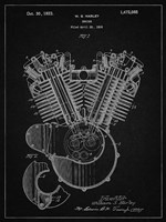 Engine Patent - Vintage Black Fine Art Print