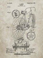 Bicycle Patent - Sandstone Fine Art Print