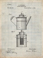 Coffee Percolator Patent - Antique Grid Parchment Fine Art Print