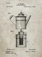 Coffee Percolator Patent - Sandstone Fine Art Print