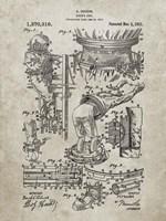 Diver's Suit Patent - Sandstone Fine Art Print