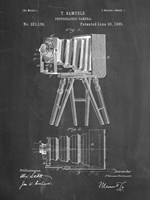 Photographic Camera Patent - Chalkboard Fine Art Print