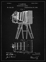 Photographic Camera Patent - Vintage Black Fine Art Print