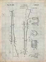 Semi-Automatic Rifle Patent - Antique Grid Parchment Fine Art Print