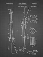Semi-Automatic Rifle Patent - Black Grid Fine Art Print