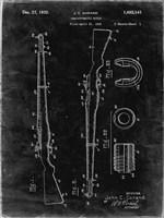 Semi-Automatic Rifle Patent - Black Grunge Fine Art Print