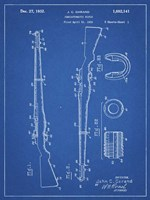 Semi-Automatic Rifle Patent - Blueprint Fine Art Print