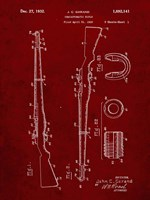 Semi-Automatic Rifle Patent - Burgundy Fine Art Print
