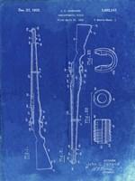 Semi-Automatic Rifle Patent - Faded Blueprint Fine Art Print