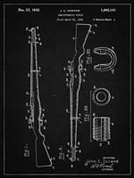 Semi-Automatic Rifle Patent - Vintage Black Fine Art Print