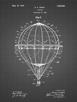 Balloon Patent - Black Grid Fine Art Print
