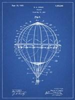 Balloon Patent - Blueprint Fine Art Print