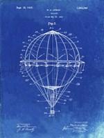 Balloon Patent - Faded Blueprint Fine Art Print