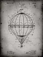 Balloon Patent - Faded Grey Fine Art Print