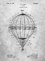 Balloon Patent - Slate Fine Art Print