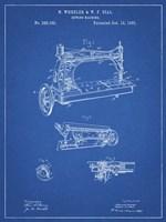 Sewing Machine Patent - Blueprint Fine Art Print