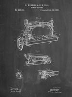 Sewing Machine Patent - Chalkboard Fine Art Print