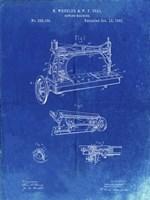 Sewing Machine Patent - Faded Blueprint Fine Art Print
