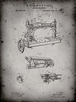 Sewing Machine Patent - Faded Grey Fine Art Print