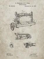 Sewing Machine Patent - Sandstone Fine Art Print