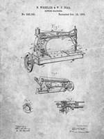 Sewing Machine Patent - Slate Fine Art Print