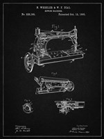Sewing Machine Patent - Vintage Black Fine Art Print