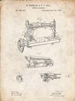 Sewing Machine Patent - Vintage Parchment Fine Art Print